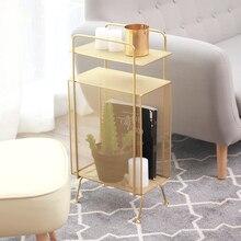 Золотой и розовый современный модный дизайн, металлический цвет, роскошная многослойная стальная проволочная стойка для журналов, органайзер для хранения книг