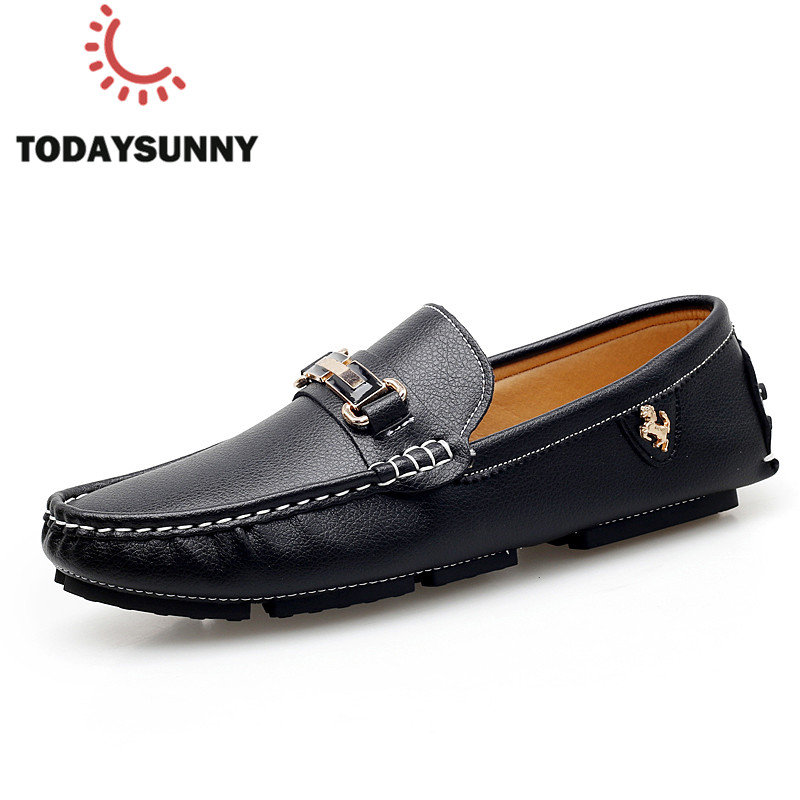 Men Loafers Shoes Casual Spring Summer Sneakers Male Soft Moccasins Men Leather Flats Shoes Soft Driving Shoes Big Size 38-47#