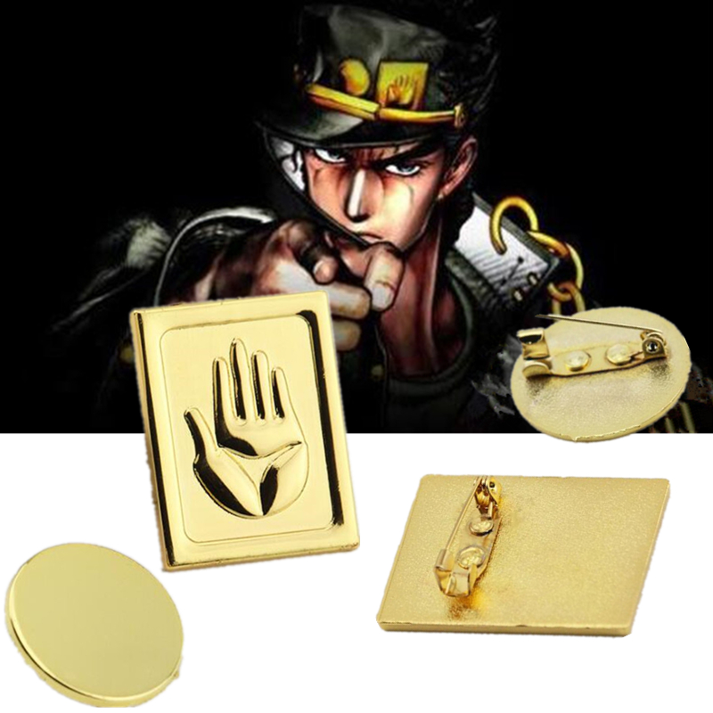 Cartoon Anime JOJO's Bizarre Adventure Peripheral Badge Fashion Personality Halloween Cosplay Metal Props Brooch Gift