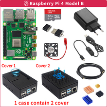 Raspberry Pi 4 2Gb/4Gb Kit Board + Power Adapter + Case + 32/64Gb sd-kaart + Kaartlezer + Heatsink Voor Raspberry Pi 4 Model B