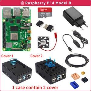 Raspberry Pi 4 Model B 2GB/4GB Kit Board + Power Adapter + Case Box + 32/64GB SD Card + HDMI Cable + Heatsink for Raspberry Pi 4