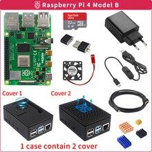Raspberry pi 4 modelo b 2gb/4gb kit placa + adaptador de alimentação caixa + 32/64gb cartão sd cabo hdmi dissipador de calor para raspberry pi 4