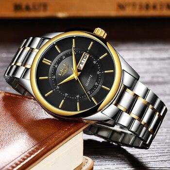 LIGE New Men Watches Top Brand Luxury Fashion Business Quartz Camouflage Watch Men Sport Waterproof Date Clock Relogio Masculino 2