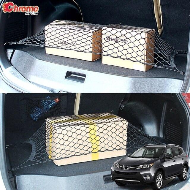 Für Toyota RAV4 2013 2014 2015 2016 2017 2018 Hinten Trunk Cargo Net Mesh Gepäck Elastische Haken Flache Nylon auto Zubehör