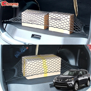 For Toyota RAV4 2013 2014 2015 2016 2017 2018 Rear Trunk Floor Cargo Net Mesh Luggage Elastic Hook Flat Nylon Car Accessories(China)
