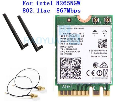 Dual Band 2.4G/5Ghz Wifi Bluetooth Wlan For Intel 8265NGW Wireless-AC 8265 NGFF 802.11ac 867Mbps 2x2 MU-MIMO WIFI BT 4.2 Card(China)