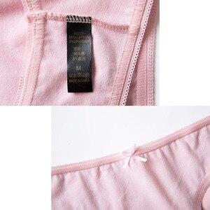 Нижнее белье для женщин, бесшовные хлопковые трусы с низкой талией и бантом, 4 шт.