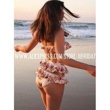 2020 Sexy Bodysuit Beach Swimsuit Lady Ruffle Deep V Bodysui