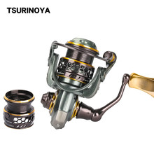TSURINOYA Jaguar 500 SPINNING Fishing Reel 9 + 1BB 5.2:1 4 กก.คู่โลหะ Lure Reel BFS Spining Reel Moulinet Peche(China)