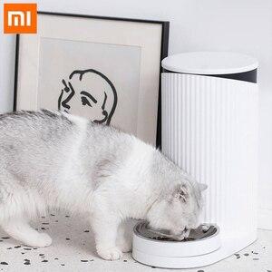 Смарт-кормушка Xiaomi для домашних животных моющаяся кошка собака автоматическая подача приложение дистанционное управление 2 кг Высокая емк...