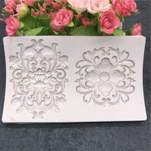 Border Silicone Mold DIY Rose Flower Cake Relief Wedding Cupcake Fondant Cake Decorating Tools Candy Chocolate Mould
