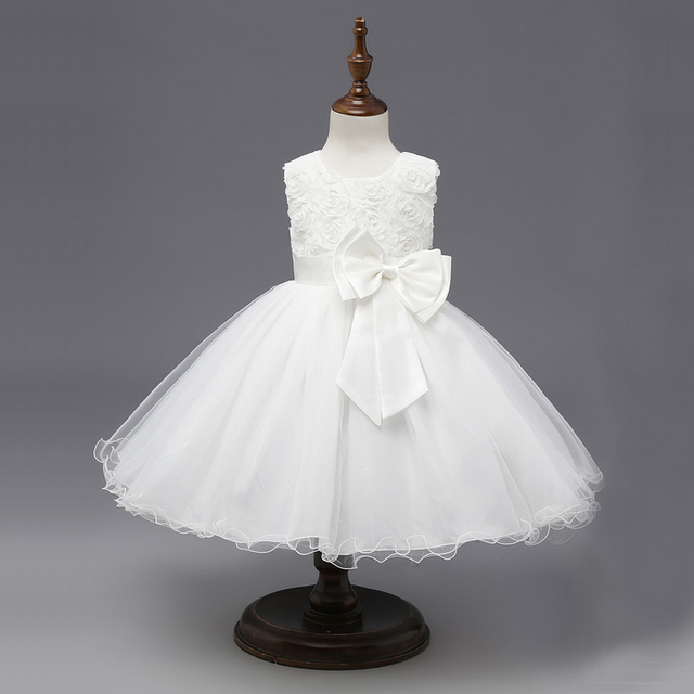 Floral Tutu Dress For Girls Dresses Kids Clothes Wedding Events Flower Girl Dress Birthday Party Costumes Children Clothing 8T 4