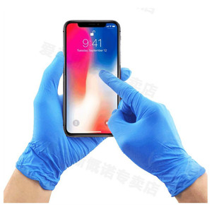 50 Pairs Rubber Protective Gloves Disposable Rubber Gloves Lattix Mittens Homwear Latex Glove Lattix Mittens