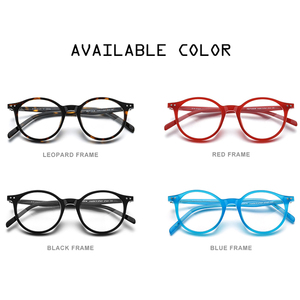 Image 5 - Hepidem acetato óculos ópticos quadro feminino 2020 vintage redondo óculos de miopia prescrição nerd óculos 9116