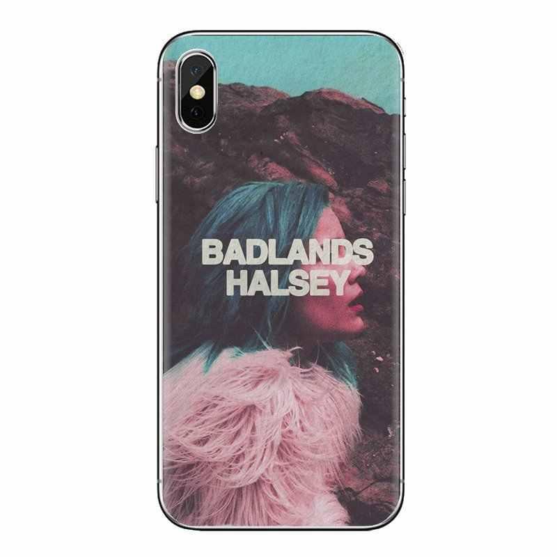 Şeffaf Yumuşak Kılıflar Kapak iPod Touch Için Apple iPhone 4 4S 5 5S SE 5C 6 6S 7 8 X XR XS Artı MAX Vintage Halsey Badlands Baskı