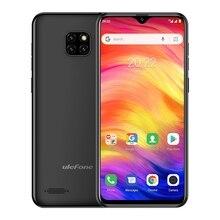 Ulefone Note 7 스마트 폰 6.1 인치 1GB RAM 16GB ROM MT6580A 쿼드 코어 3500mAh 페이스 ID 3 개의 후면 카메라 Android GO Mobile Phone