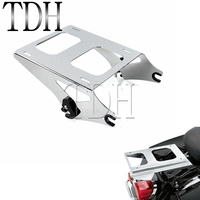 Motorcycle Chrome Detachable Two Up Tour Pak Rear Luggage Rack Pack Holder For Harley Road King FLHR Street Glide FLHX 2014 2017