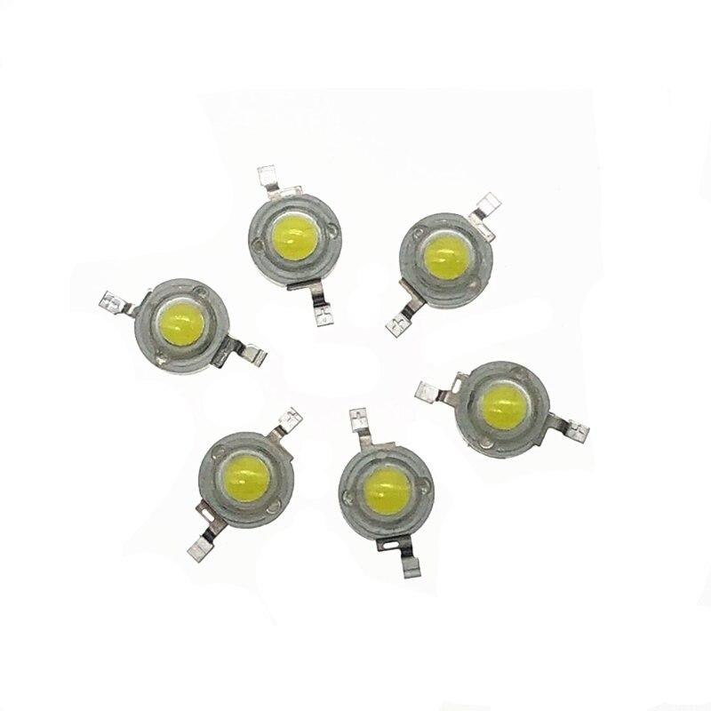 1w puce LED 3w haute puissance lampe à LED perles blanc chaud, blanc, rouge, jaune, vert, lumière bleue