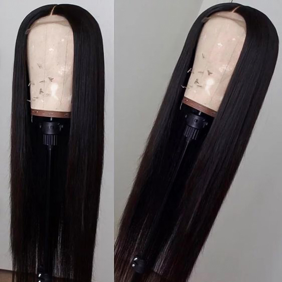 H841b6d29d4c143e685025f056e7a0dcd8 Sterly 4x4 Lace Closure Wig Remy Hair Straight Lace Wig Brazilian Lace Closure Human Hair Wigs For Black Women