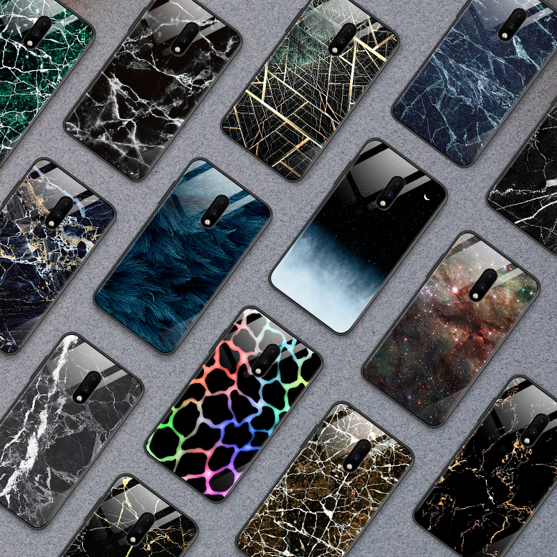 for OnePlus 3 3T 5 5T 6 6T 7 7 Pro Luxury Tempered <font><b>Glass</b></font> <font><b>Cover</b></font> for <font><b>Samsung</b></font> <font><b>Galaxy</b></font> <font><b>S8</b></font> S9 S10 Plus Bumper Shockproof Phone <font><b>Cases</b></font> image