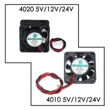 Dc 5v/12v/24v computador cpu cooler mini ventilador de refrigeração 40mm 50x50x1 0/40x40x1 0/40x40x20 ventilador de exaustão pequeno para ender 3 cr10 impressora 3d