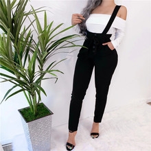 Women Streetwear Long Pants Bandage Design