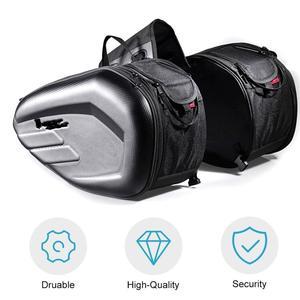 58L Motorcycle Saddlebags Rear Seat Luggage Large Capacity Multi-use Expandable Body & Frame Tank Bag & Saddlebags