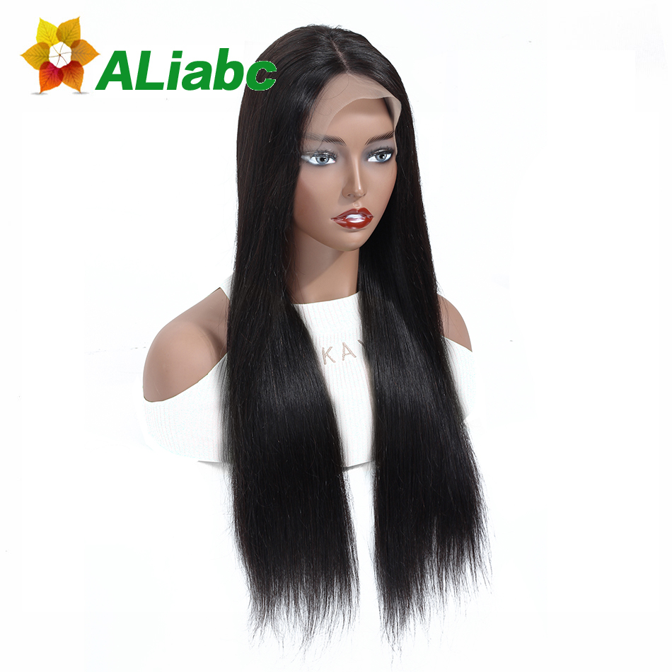 Aliabc 13 4 Lace Front Wigs Straight 100 Malaysian Human Hair For Black Women Natural Color