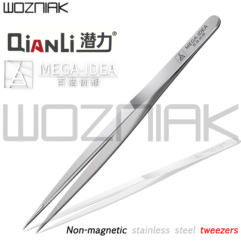 Qianli flying wire tweezers non-magnetic stainless steel extra-sharp thickened tweezers pointed tweezers