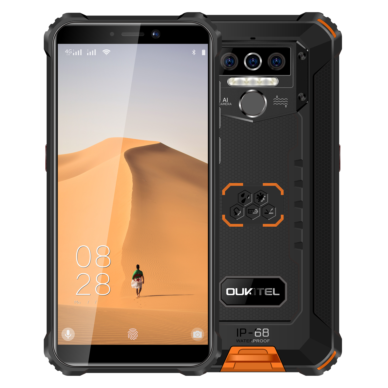 OUKITEL WP5 IP68 Waterproof Smartphone 8000mAh Android 9.0 Triple Camera Face/Fingerprint ID 5.5 inches 4GB 32GB Mobile Phones