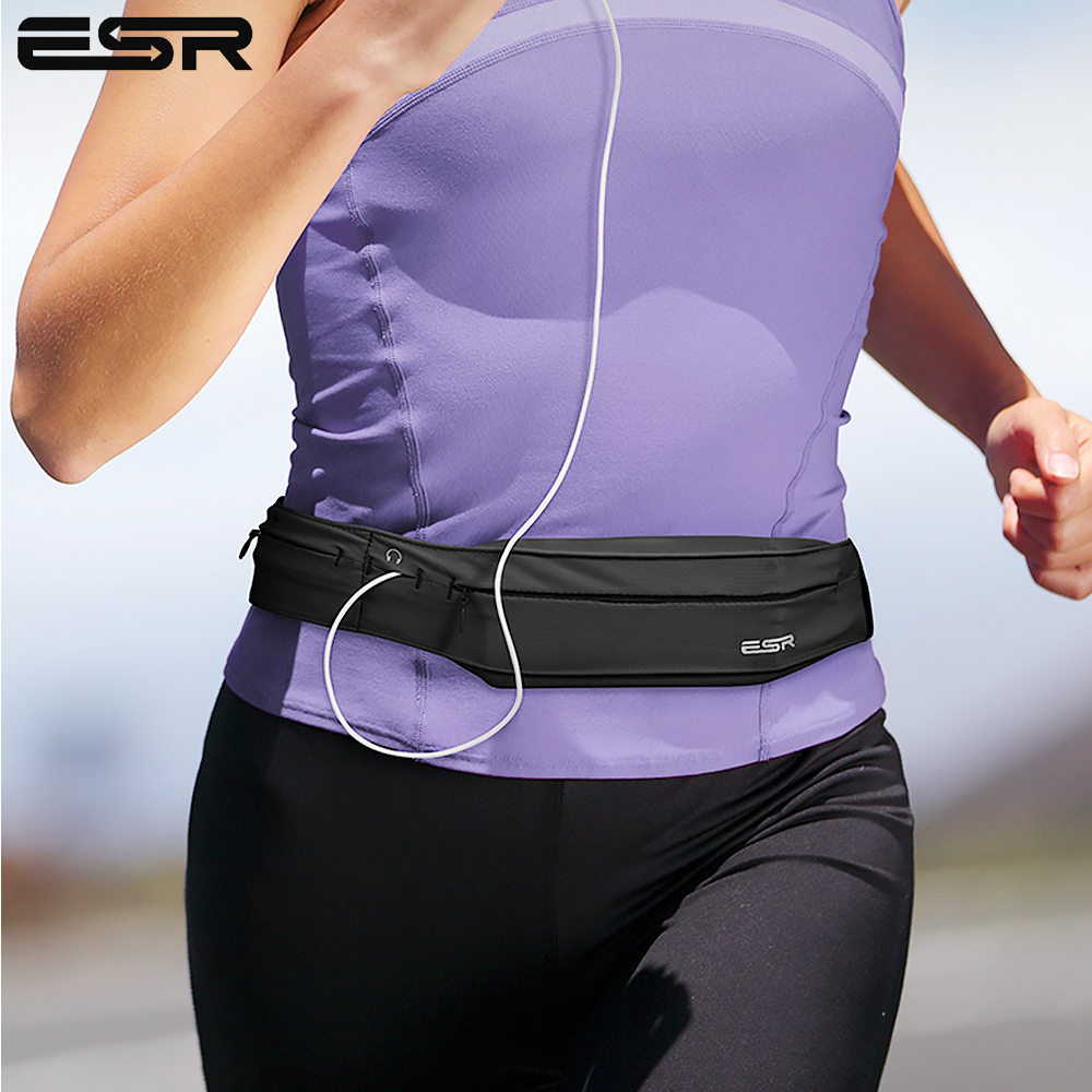 Running Belt Waist Pack, ESR Universal Lightweight Sports Band Pouch With Key Card Slot Headphone Port For IPhone X/8 Plus/7/6s