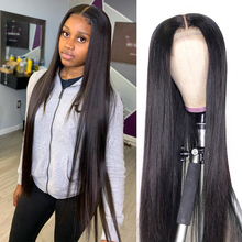 Straight Human Hair Wigs 30 inch Middle Part Brazilian Hd Straight Lace Front Wig With Baby Hair 13x1 Lace Part Wig Pre Plucked