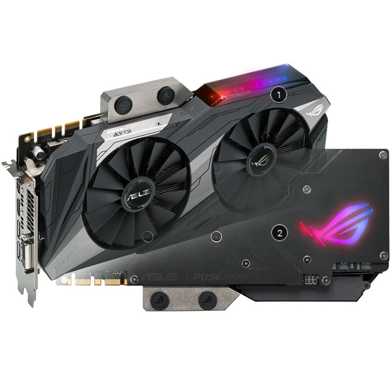 ROG-POSEIDON-GTX1080TI-P11G-GAMING graphics card used 90%new image