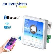 цена Smart home Theater Cinema WiFi audio Wall panel Amplifier mini 4inch Touch Screen bluetooth wireless Music System USB/TF/FMradio онлайн в 2017 году