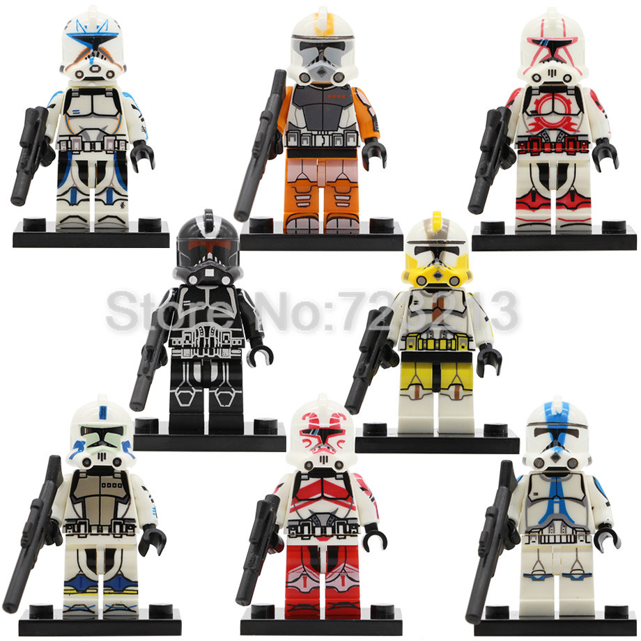 Star Wars Clone Trooper Starwars Figure Single Sale POGO8078 Trooper Clonetrooper Building Block Model Bricks Toys Legoing