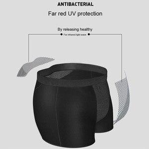Image 3 - 3 قطعة/حقيبة سراويل داخلية للرجال توليد التورمالين الجليد الحرير تنفس الرجال الملابس الداخلية مثير البريطانية العلاج المغناطيسي الملاكم