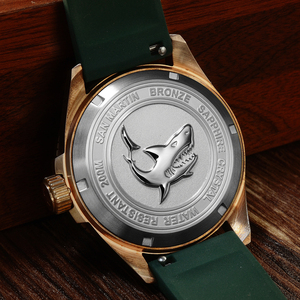 Image 5 - San Martin DIVER Bronze อัตโนมัติหมุน BEZEL นาฬิกาข้อมือผู้ชาย 200 M สายนาฬิกากันน้ำ Luminous Dial