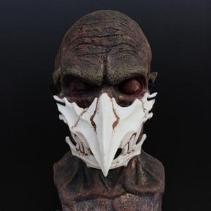 Image 3 - Маска для косплея на Хэллоуин, смола, дракон, Бог, Яша, маска, 2D, ужас, животное, тема, вечерние, животные, череп, маска для лица, маскарадная страшная маска