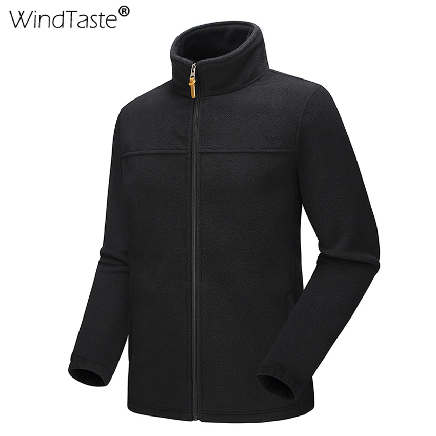 WindTaste Hot Autumn Mens Fleece Jackets Hiking Outdoor Sports Camping Thick Thermal Trekking Male Fishing Climbing Coats KA155