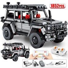 1852pcs cidade de controle remoto fora-estrada caminhão modelo blocos de construção criador high-tech rc carro veículo moc tijolos brinquedos para crianças presente
