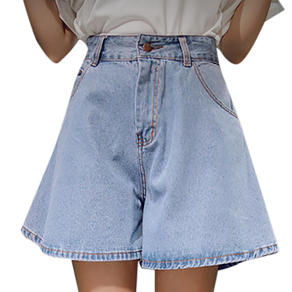 Sexy hole Jeans Fashion Women Loose High-Waisted Broad-Legged Jeans And Shorts Casual Slim Fit High Quality Elastic #4