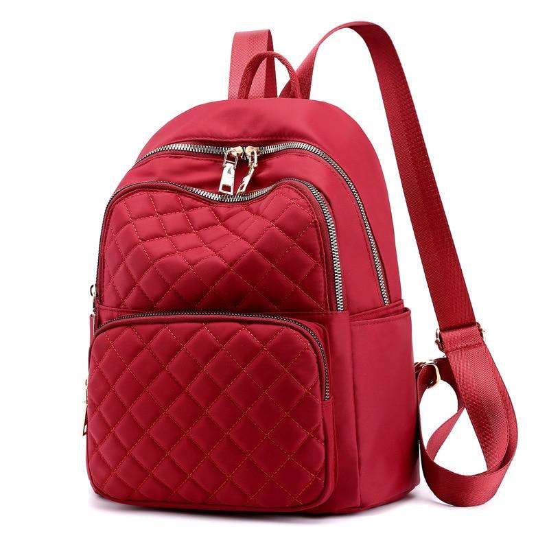 Fashion Female Backpack School Bags For Teenage Girls Plaid Backpacks Casual School Bag Travel Backpack Rucksack Women Mochila