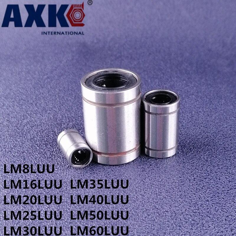 LM8LUU LM16LUU LM20LUU LM25LUU LM30LUU LM35LUU LM40LUU LM50LUU LM60LUU 2Pcs Linear Bushing CNC linear Bearings Shaft Parts|Bearings| - AliExpress