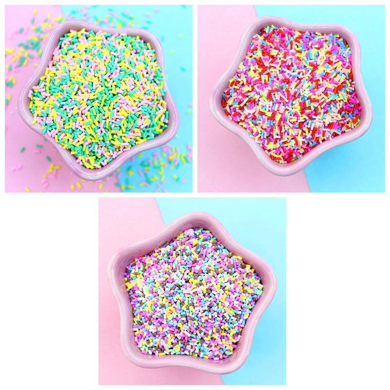 20g/pack Slime Clay Fake Candy Sweets Sugar Sprinkle Decoration For Fake Cake Dessert Food Particles Decoration Toy For Children