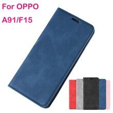 OPPO A5 2020 케이스의 경우 OPPO A5 2020 지갑 가죽 소프트 TPU 커버의 경우 OPPO A5 2020 케이스 자기 전화 플립 가죽 케이스