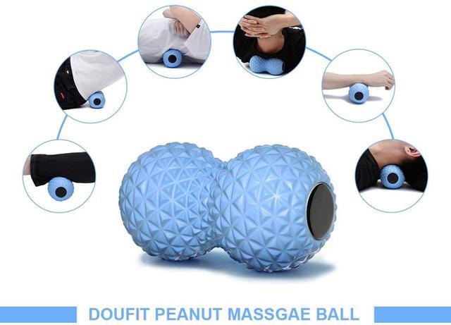 Per il Fitness Arachidi Sfera di Massaggio Doppio Rullo Lacrosse Palla in Profondità Del Tessuto Schiuma Massaggiatore per la Mano, piedi, Schiena, rilassamento muscolare 5