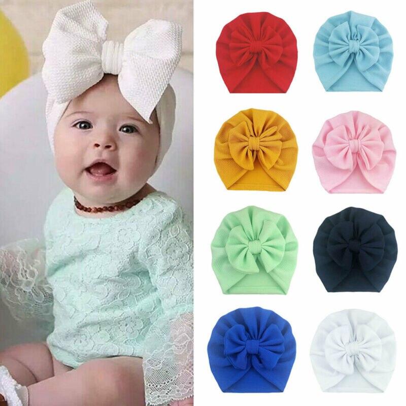 NEW 2020 Soft Newborn Toddler Kids Baby Boy Girl Turban Cotton Beanie Hat Winter Warm Cap