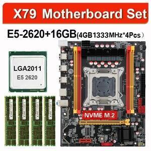 Kllisre X79 chipset motherboard combos E5 2620 Processor 4pcs 4GB 1333 ECC memory