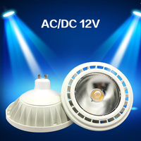 عالية الجودة السوبر مشرق AR111 15 واط COB LED النازل التيار المتناوب تيار مستمر 12 فولت QR111 G53 GU10 LED لمبة إضاءة عكس الضوء led مصباح الإضاءة-في أضواء LED من مصابيح وإضاءات على