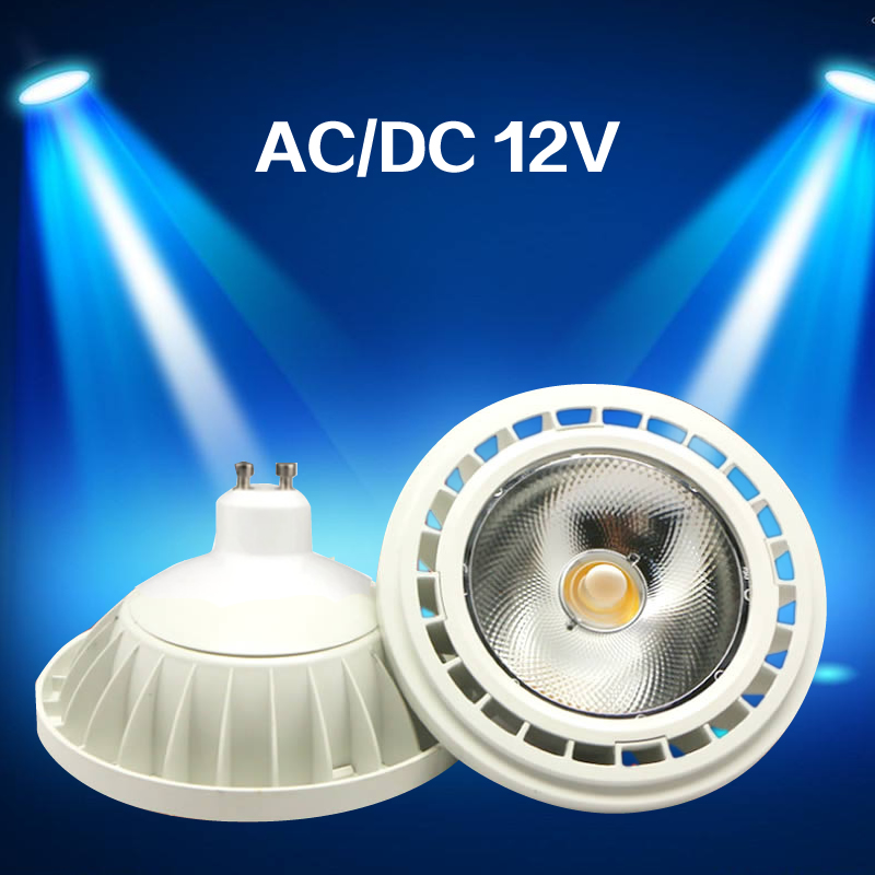 High Quality Super Bright AR111 15W COB LED Downlight AC DC 12V QR111 G53 GU10 LED Bulb Light Dimmable Led Lamp Lighting